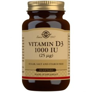 Vitamina D3 1000 UI (25 μg) (Aceite de Hígado de Pescado y Colecalciferol) – 100 cápsulas blandas