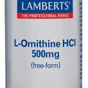 L-Ornitina 500 mg en forma libre. Aminoácido no esencial