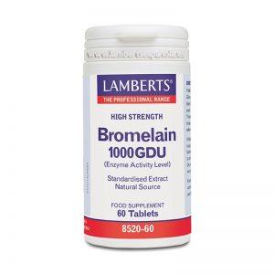 Bromelina 1000 GDU Enzimás de Piña de fuente natural – Lamberts
