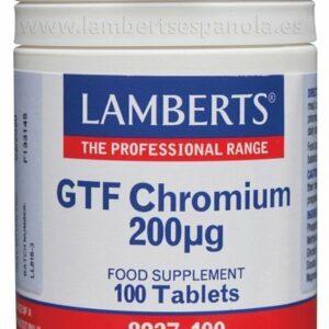 Cromo GTF 200 mcg como Picolinato. Una al Día