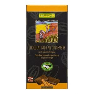 Tableta de chocolate con jengibre Rapunzel 80 g