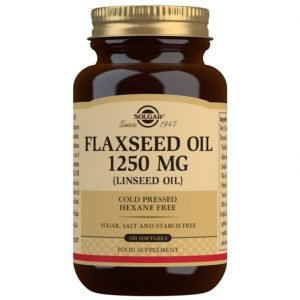 Aceite de Linaza 1250 mg – 100 Cápsulas blandas