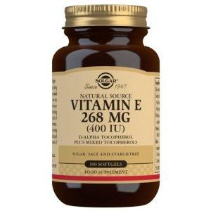 Vitamina E 400 UI (268 mg) – 100 Cápsulas blandas