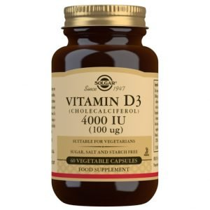 Vitamina D3 4000 UI (100 μg) (Colecalciferol) – 60 Cápsulas vegetales