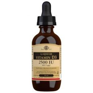 Vitamina D3 Líquida 2500 UI (62,5 µg) – Sabor naranja natural – 59 ml