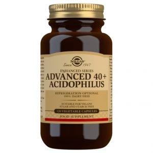 40 Plus Acidophilus Avanzado No Lácteo (120 Cápsulas Vegetales)
