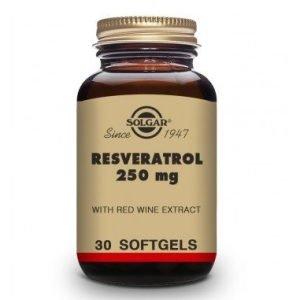 Resveratrol 250 Mg con Extracto de Vino Tinto (30 Cápsulas Blandas)