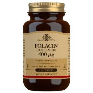 Folacín. Ácido Fólico 400 µg – 250 Comprimidos