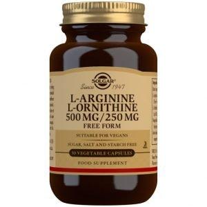 L-Arginina 500 mg / L-Ornitina 250 mg – 50 Cápsulas vegetales