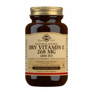 """Vitamina E """"Seca"""" 400 Ui 268 Mg. (50 Cápsulas Vegetales)"""