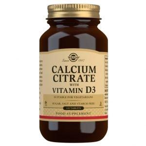Citrato de Calcio con Vitamina D3 – 240 Comprimidos