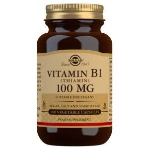 Vitamina B1 100 mg (Tiamina) – 100 Cápsulas vegetales