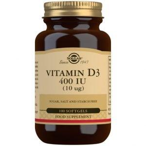 Vitamina D3 400 UI (10 μg) – 100 cápsulas blandas