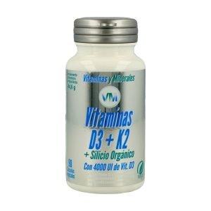 Vitamina D3 K2 y Silicio – 90 cáps.