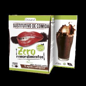 Caja batido sustitutivo vegetal chocolate avellanas 6 sobres 6×52 g  Zero remordimientos