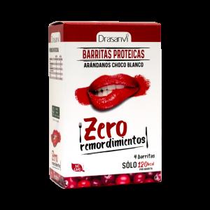 Barrita proteica arándanos-chocolate blanco 4 unidades 4×35 g  Zero remordimientos