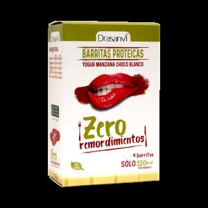 Caja barrita proteica yogurt-manzana y chocolate blanco 4 unidades 4×35 g  Zero remordimientos