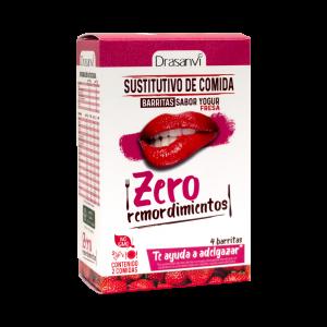 Caja barrita sustitutiva yogurt-fresa 4 unidades 4x35g  Zero remordimientos