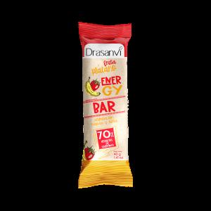 Barrita energética con fresa y plátano