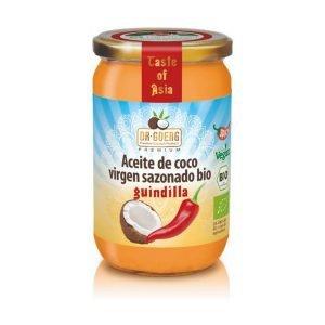 Aceite de Coco Virgen Sazonado Bio Guindilla