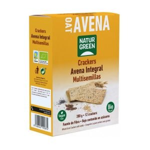 Crackers de Avena Integral Semillas Bio