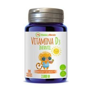 Vitamina D3 Infantil (2.000 UI) – 30 cáps. vegt.