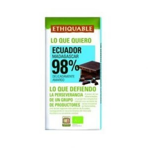 CHOCOLATE NEGRO 98% ECUADOR MADAGASCAR BIO