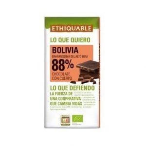 CHOCOLATE NEGRO 88% BOLIVIA BIO