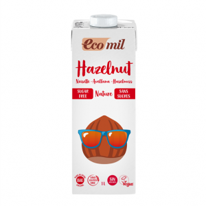 Ecomil Bebida de avellana sin azúcares Bio 1 L