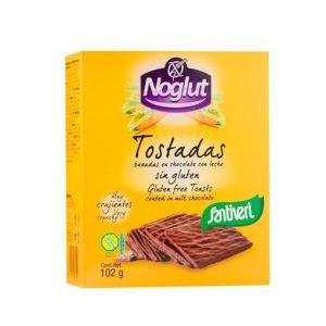 NOGLUT TOSTADAS BAÑADAS EN CHOCOLATE CON LECHE – Noglut,Santiveri