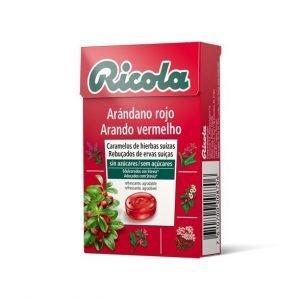 CARAMELOS RICOLA ARÁNDANO ROJO SIN AZÚCAR