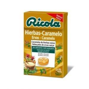 CARAMELOS RICOLA HIERBAS CARAMELO CON ESTEVIA