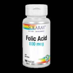 FOLIC ACID 800 mcg – Solaray
