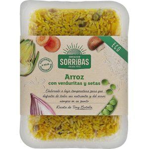 Arroz con verduritas y setas 200 gr. – Sorribas